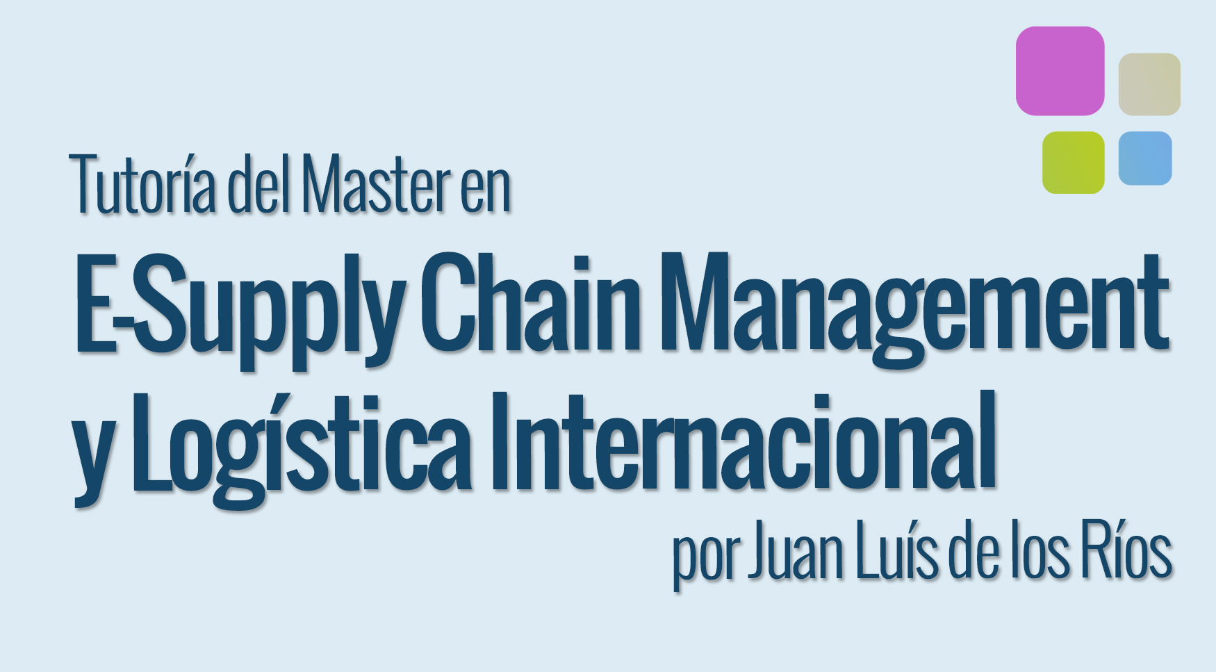 tutoría supply chain