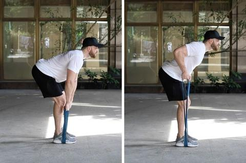 Resistance Band Bent-Over Row