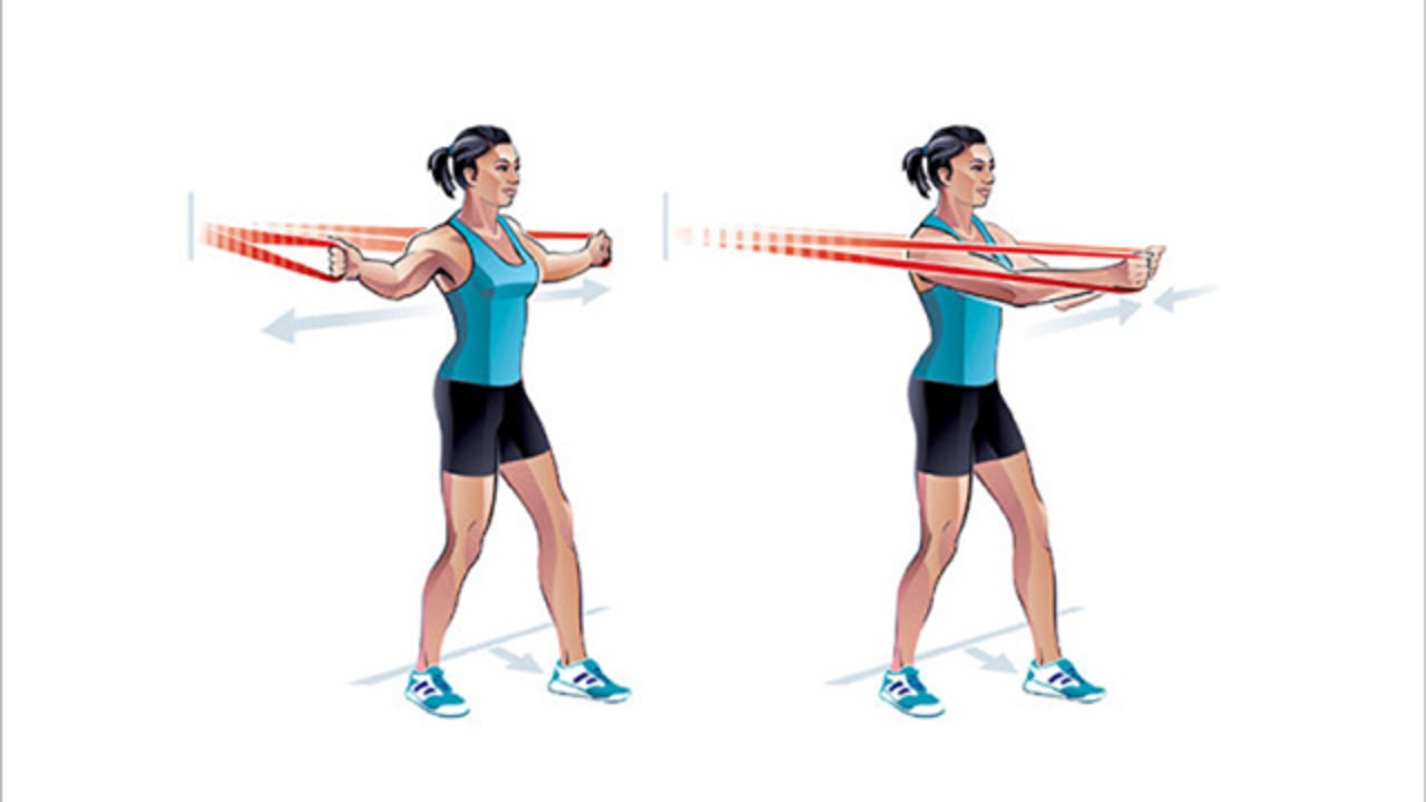 Resistance Band Chest Fly