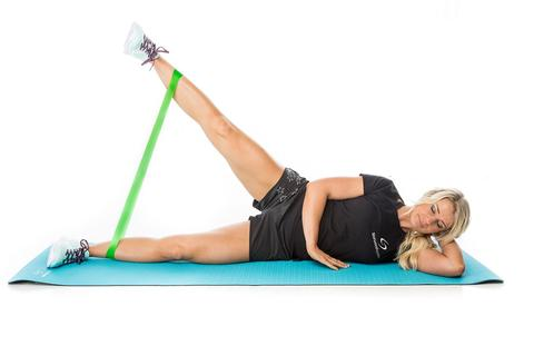 Resistance Band Lateral Leg Lift