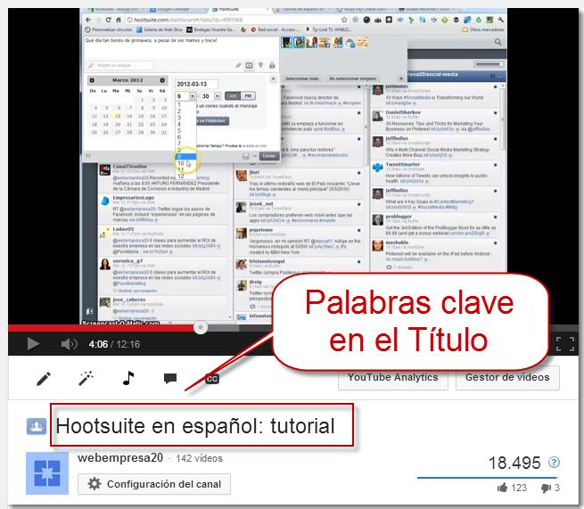 keyword en título del video