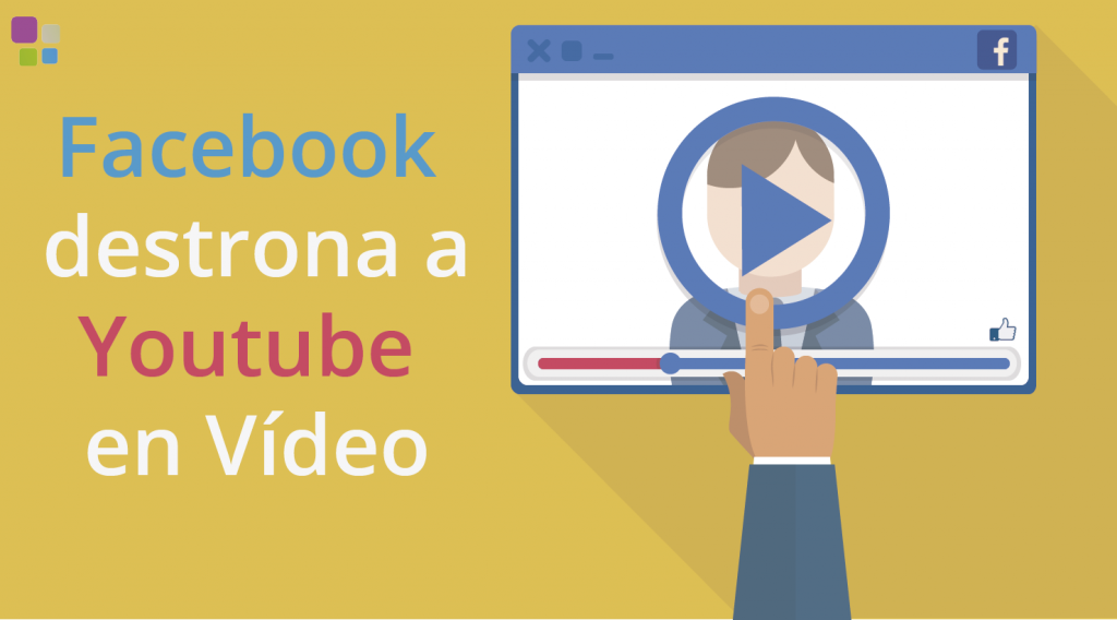 facebook destrona a youtube en videos