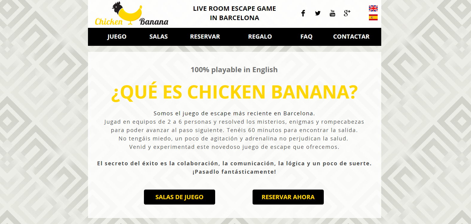 Landing page Chicken Banana