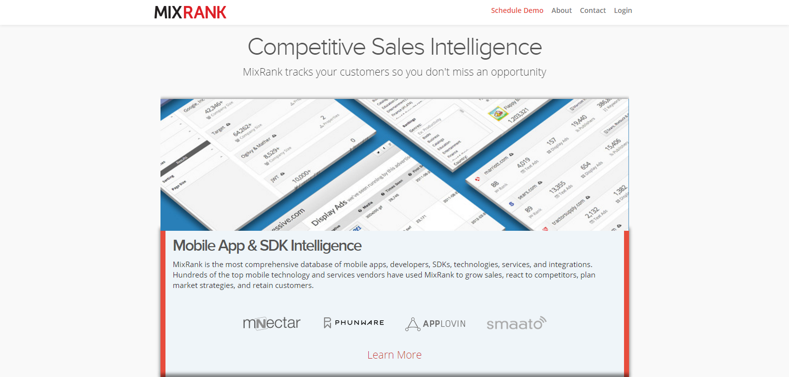 MixRank Competitive Sales Intelligence