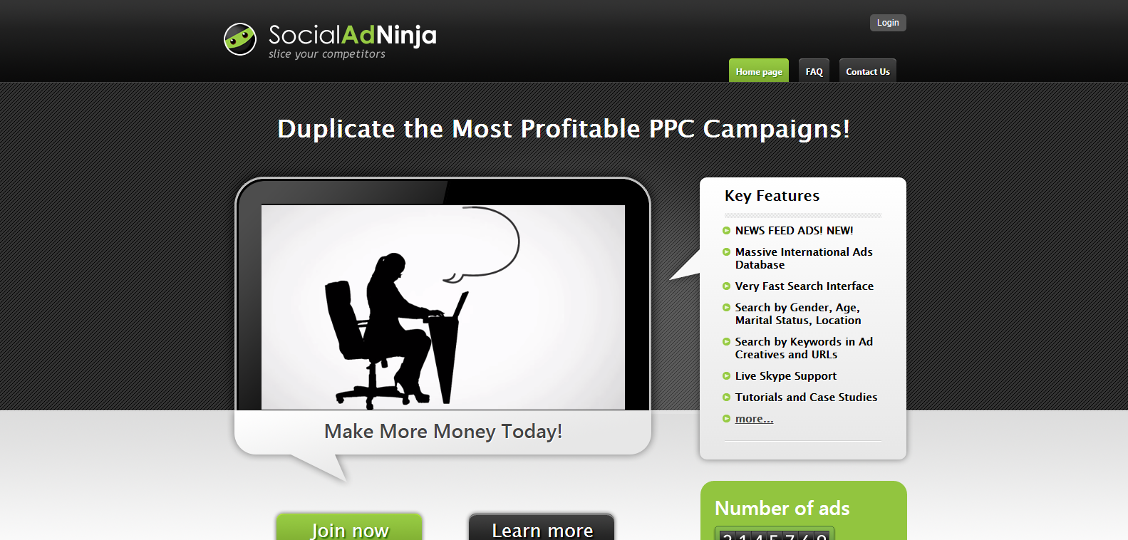 SocialAdNinja Slice your competitors