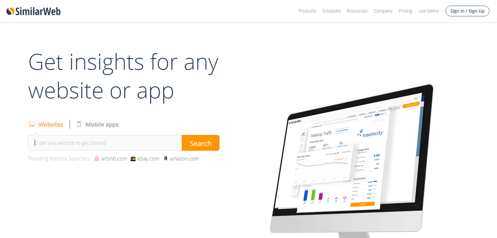 Website Traffic Mobile App Analytics SimilarWeb