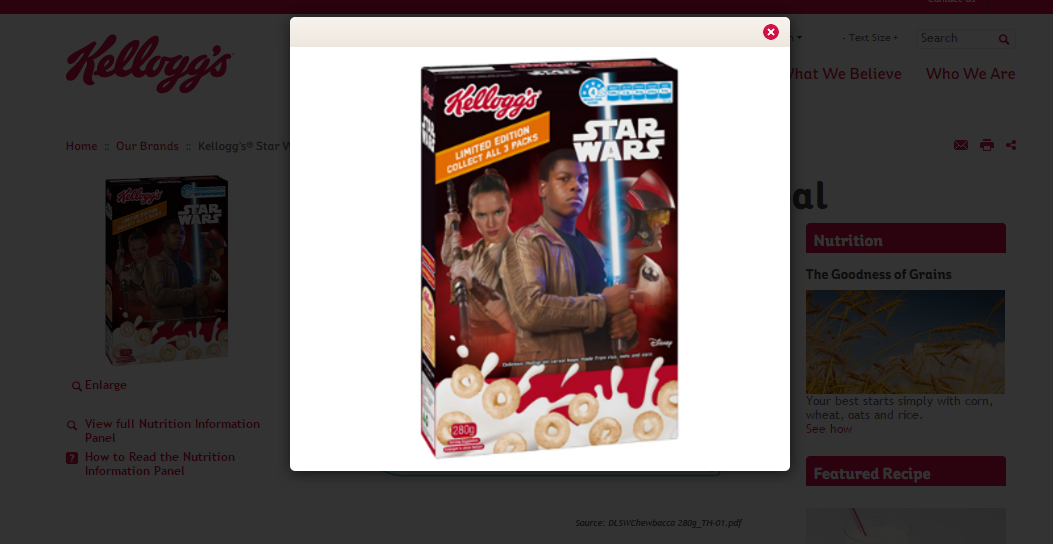 Star Wars Marketing Redes Sociales Kellogs