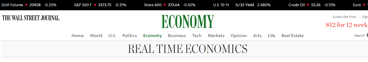 The Real Time Economics