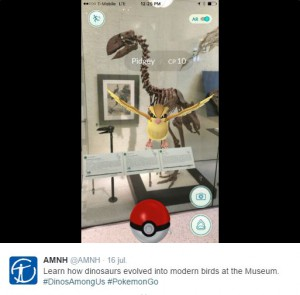 Pokémon Go en el The American Museum of Natural History