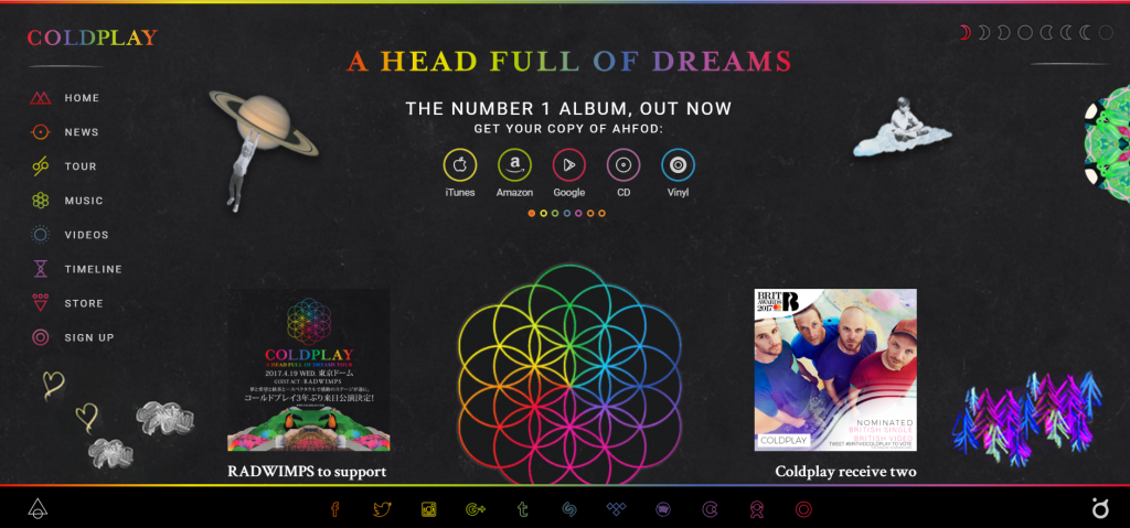 website Coldplay
