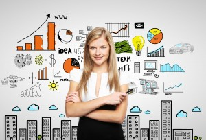 woman and business strategy